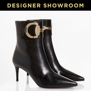 Gucci EUR 36 Leather Pointed Toe Ankle Boots 388362C9D00