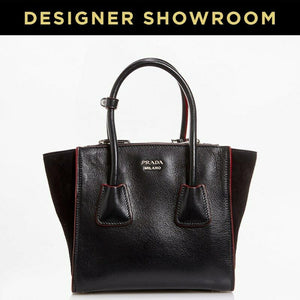 Prada Black Leather Convertible Mini Tote