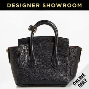 Bally Sommet Grained Black Leather Convertible Mini Tote