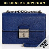 Dolce & Gabbana Rosalia Blue Leather Convertible Bag