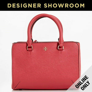 Tory Burch Saffiano Pink Leather Convertible Mini Tote