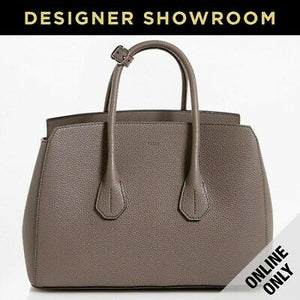 Bally Sommet Grained Grey Leather Tote