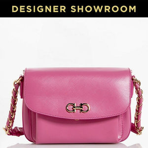 Salvatore Ferragamo Pink Leather Gancio Convertible Crossbody