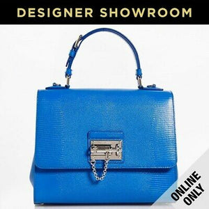 Dolce & Gabbana Monica Embossed Blue Leather Convertible Bag