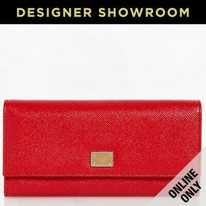 Dolce & Gabbana Rosso Leather Continental Wallet
