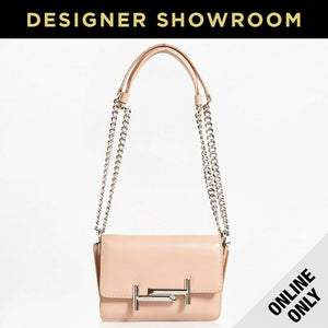 Tod's Micro Double T Light Pink Leather Convertible Crossbody