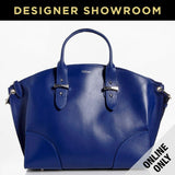 Alexander McQueen Leather Legend Medium Tote Blue / 375338AWP0N