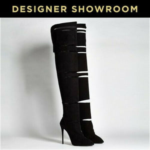 Giuseppe Zanotti US 10 Suede Slit Over-The-Knee Boots I58049
