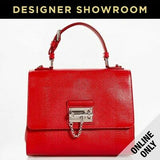 Dolce & Gabbana Monica Embossed Rosso Leather Convertible Bag