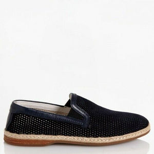 Dolce & Gabbana Mens EUR 42/ US 9 Perforated Leather Slip-On Espadrilles