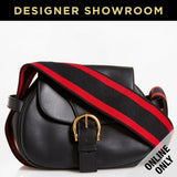 Alexander McQueen Leather Crossbody Bag Black Red