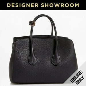 Bally Sommet Grained Black Leather Tote