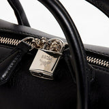 MCM Munich Leather Convertible Mini Satchel Black