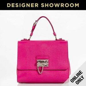 Dolce & Gabbana Monica Embossed Pink Leather Convertible Bag