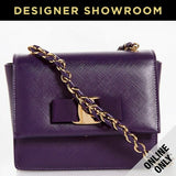 Salvatore Ferragamo Mora Purple Leather Vara Bow Mini Bag