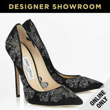 Jimmy Choo EUR 39.5 Karmel Women's Shiny Mesh Leather Pumps KARMEL120SRK