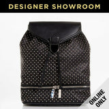 Alexander McQueen Leather Studded Backpack Black