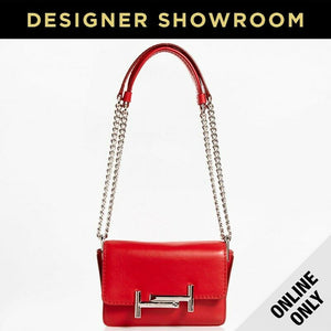 Tod's Micro Double T Red Leather Convertible Crossbody