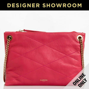 Lanvin Sugar Small Quilted Leather Bag Pink