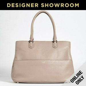 Giorgio Armani Leather Convertible Tote Beige Tan/ Y1D050YD09A