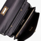 Salvatore Ferragamo Black Leather Gancio Convertible Crossbody