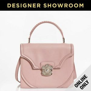 Alexander McQueen Leather Convertible Flower Satchel Pink