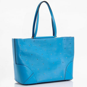 MCM Claudia Studs Canvas & Leather Tote Bag