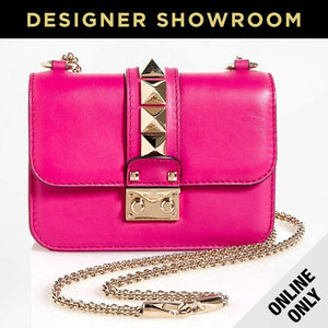 Valentino Leather Rockstud Convertible Crossbody Bag - JW2B0864VIF7 FUSCHIA