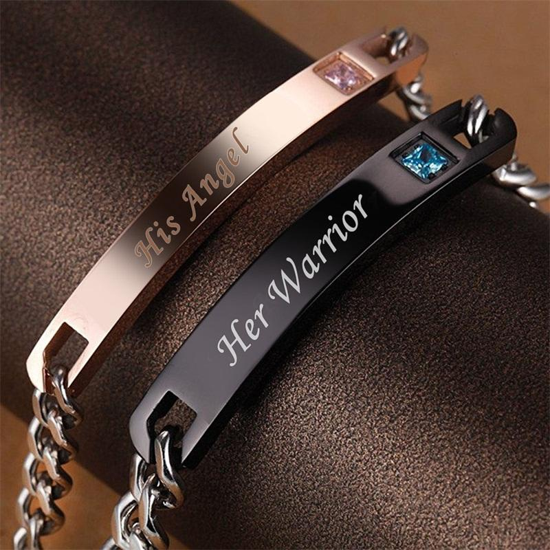 Bracelet De Distance Pour Couple Angel & Warrior Dark Label Shop