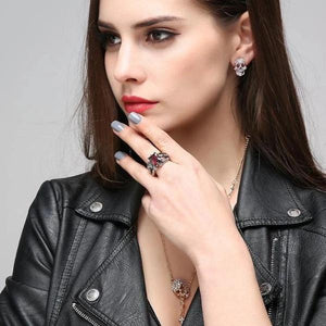 Gratuit - Bague Griffes De Dragon & Pierre Rouge Dark Label Shop Fashion