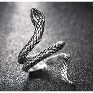 Gratuit - Bague Serpent Punk Rock 7 Fashion