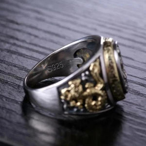 Bague Bouddhiste en Argent Sterling 925 avis Dark Label Shop