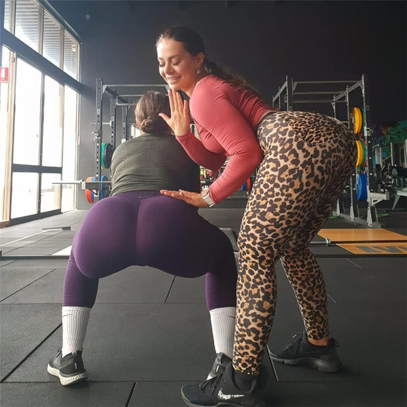 leggings imprimé Léopard Push Up