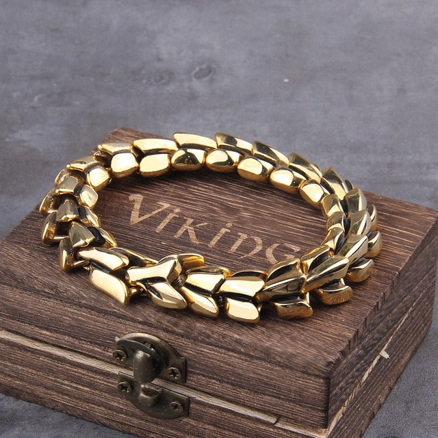 bracelet-viking-en-acier-inoxydable-dore-dark-label-shop