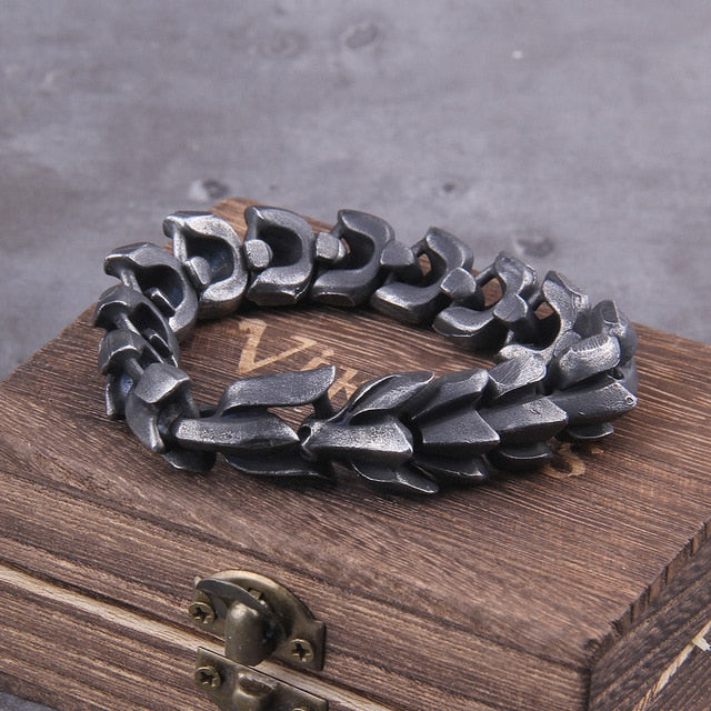 bracelet-viking-en-acier-inoxydable-noir-dark-label-shop