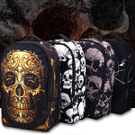 Sac à dos cartable Punk Skull 3D Dark Label Shop