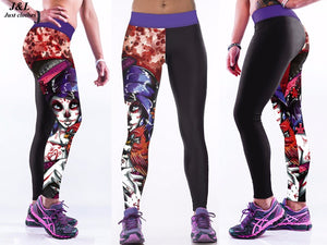 Leggings Dark Fantaisie sport et fitness été Imprimé Push Up mode femme