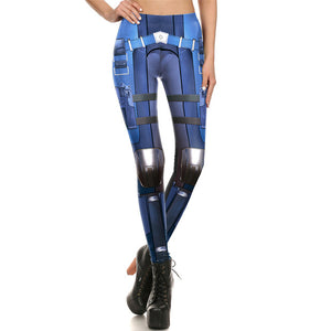 Nouveau Leggings Collant Bas Extensible Blue Original Fantaisie mode