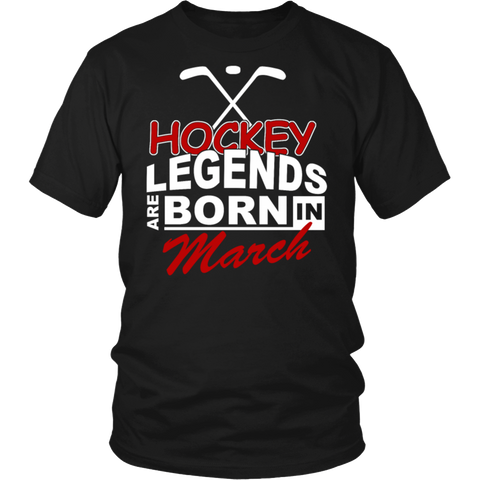 Legends Are Born In March Birthday Shirt