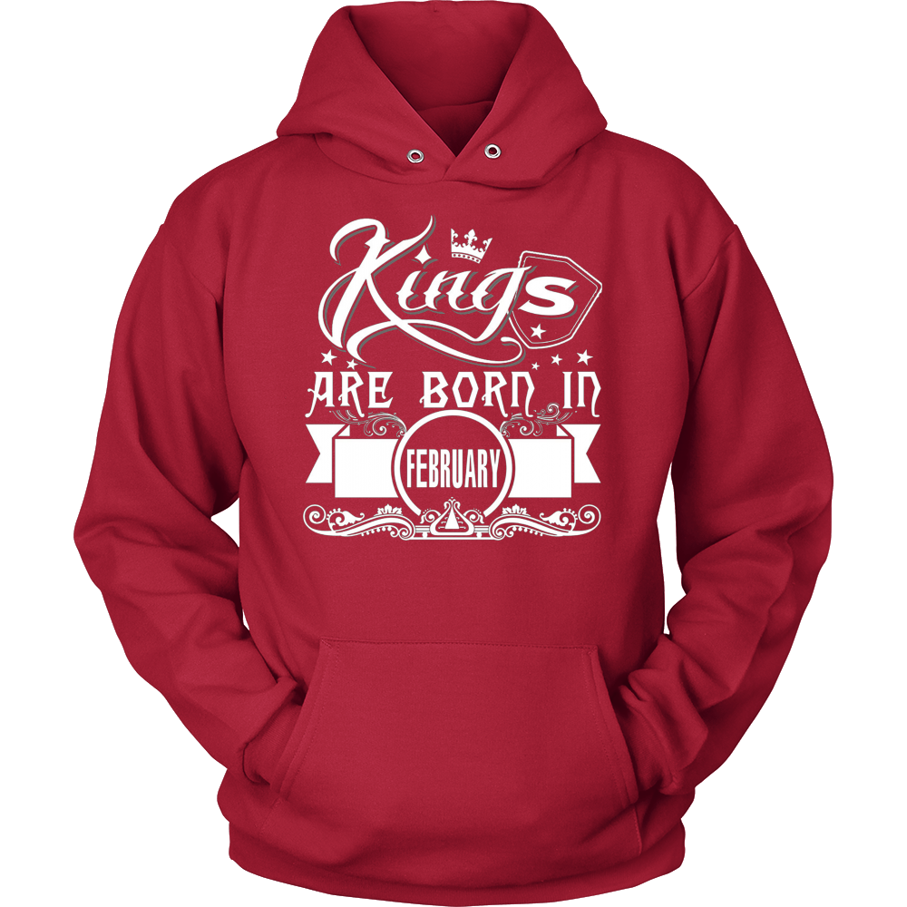MEN'S KINGS ARE BORN IN FEBRUARY T SHIRT BIRTHDAY GIFT