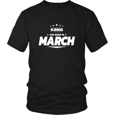 King are born in March Tshirt Birthday gift shirt