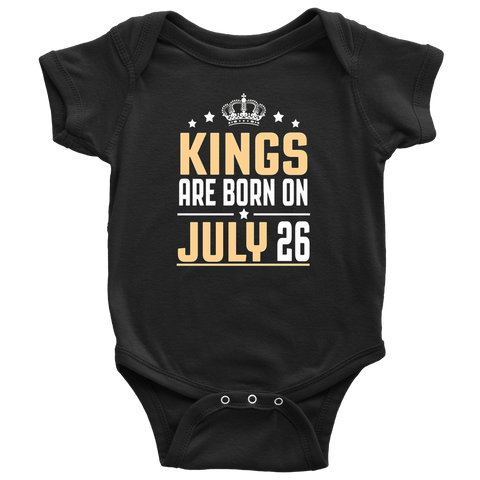 Kids / Kings Are Born On July 26 Birthday T-shirts