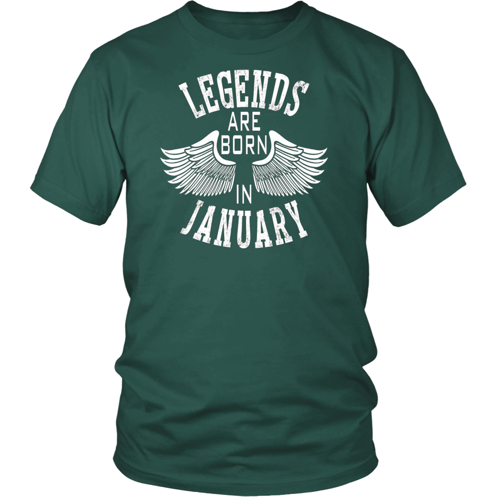 Legends Are Born In January | January Birthday T-Shirt Gifts