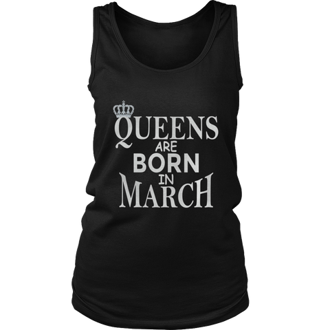Queen are born in March - March Lady shirt