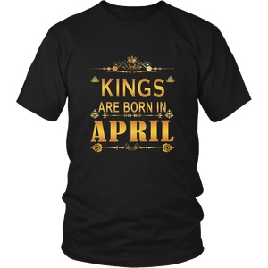 KINGs Are Born in April Shirt, Birthday Gift For Men