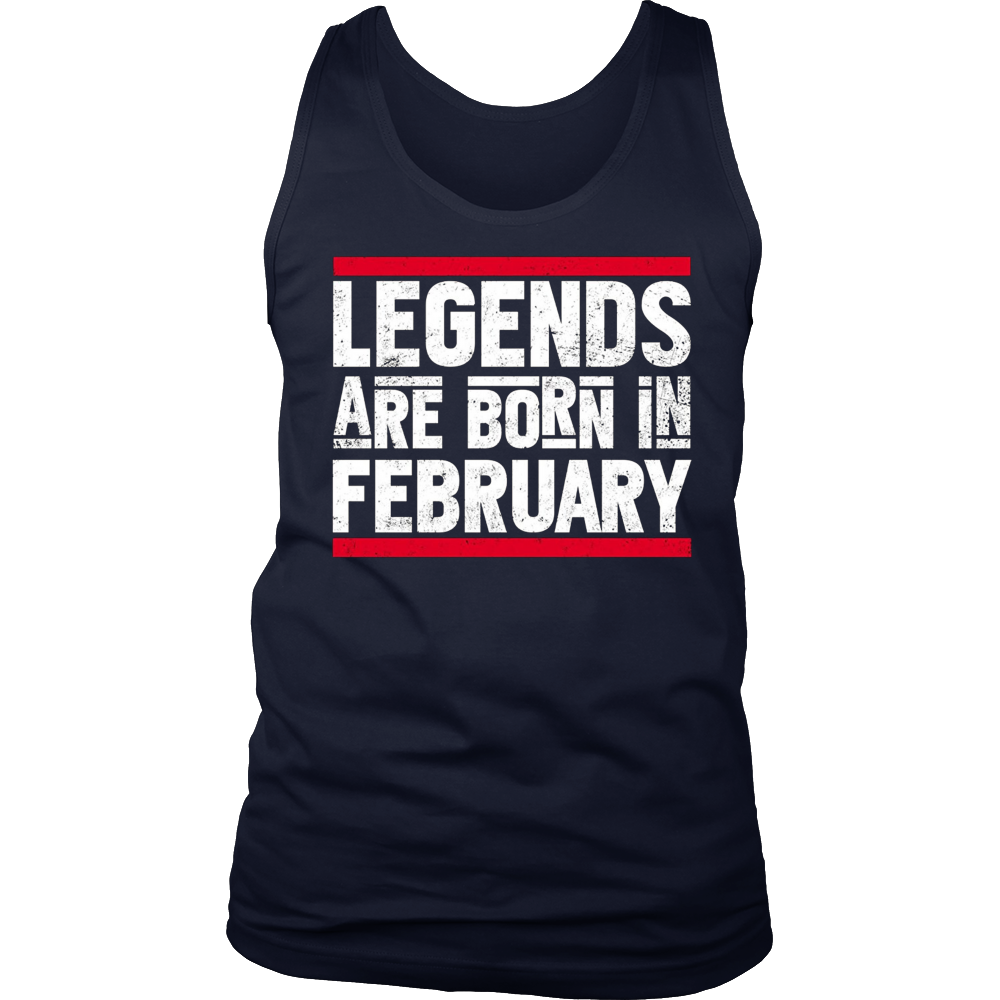 Legends Are Born In February T-Shirt Aquarius Zodiac Gifts