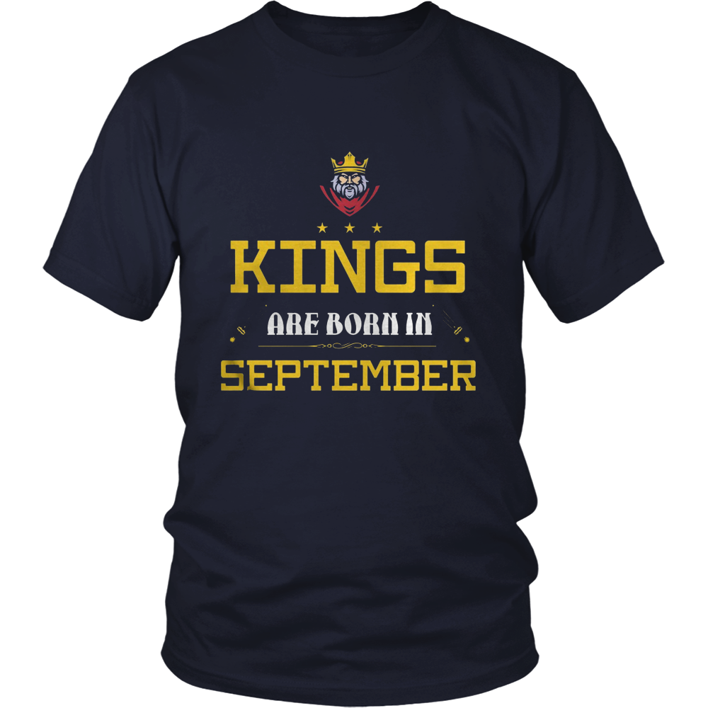 KINGS ARE BORN IN SEPTEMBER SHIRT TSHIRT