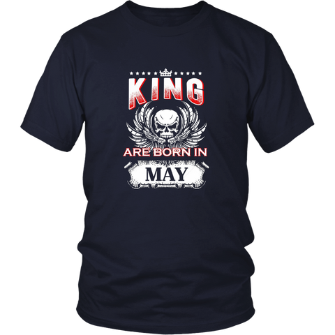 Kings Are Born In May Birthday T-Shirt