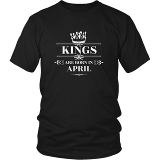 King are born in April Tshirt Birthday gift shirt