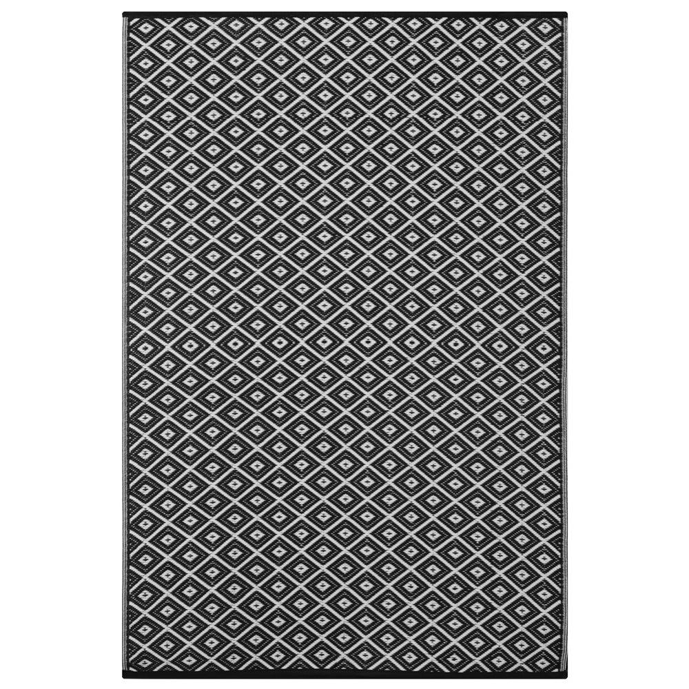 ARABIAN NIGHTS Outdoor Plastic Rug, Black